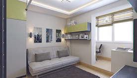 Оливковый цвет в интерьере комнаты подростка, КОПЭ-М-Парус
