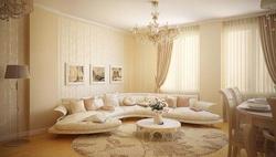 Дизайн интерьера гостиной вместе с кухней и столовой