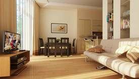 Дизайн-гостиной-столовой, освещение