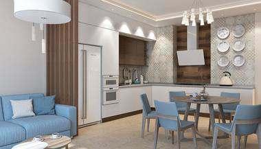 Проект четырехкомнатной квартиры в ЖК «Фили Град»