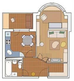 Дизайн 1 комнатной квартиры серии И-155