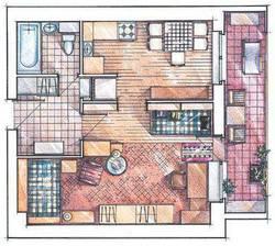 Перепланировка однокомнатной квартиры И-209А