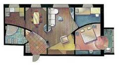 Планировка четырехкомнатной квартиры II-49