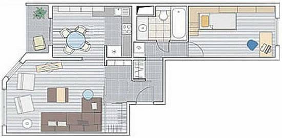 дизайн 2-х комнатной квартиры серии ИП 46С