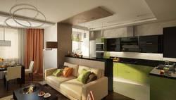 Интерьер кухни-гостиной в Одинцово