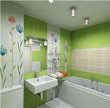 интерьер маленькой ванной комнаты в картинках - 2