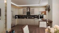 Дизайн кухни-гостиной, ЖК Богородский