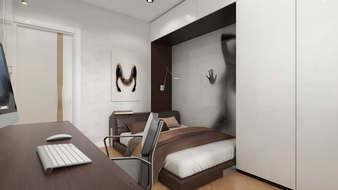 минимализм в интерьере двухуровневой квартиры
