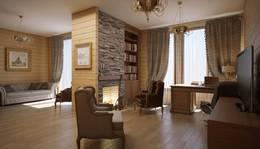 Интерьер деревянного дома в Мытищах