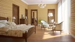 Дизайн спальни в классическом стиле в сочетании со стилем кантри