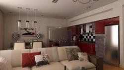 Дизайн интерьера кухни в таунхаусе