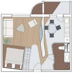 Перепланировка однокомнатной квартиры П-111М