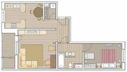 Перепланировка двухкомнатной квартиры П-111М