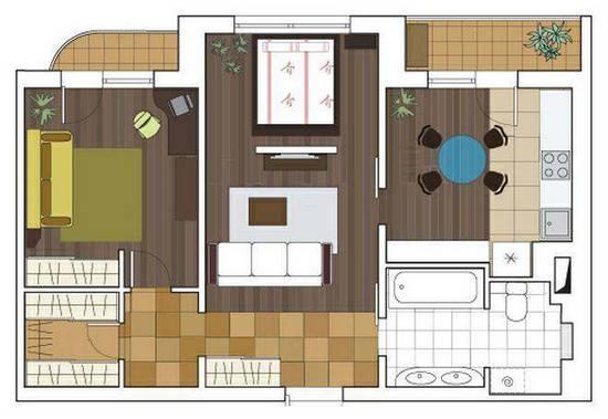 дизайн двухкомнатной квартиры серии п 3м