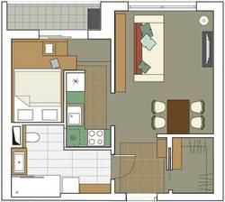 Дизайн 1 комнатной квартиры серии П-3М