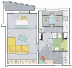 Дизайн 1 комнатной квартиры серии П-44Т