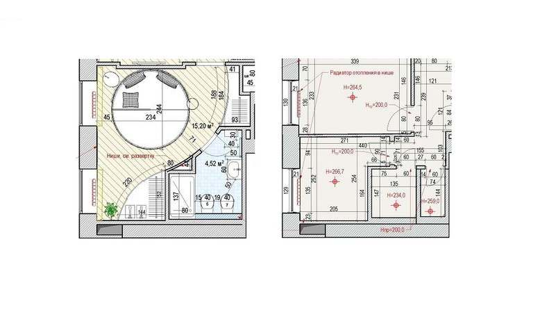 Перепланировка и планировка спальни 15 кв.м.