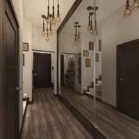 Дизайн прихожей и коридора в таунхаусе, Павлово