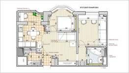 Перепланировка 2 комнатной квартиры