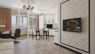 Дизайн-проект четырёхкомнатной квартиры в ЖК «Балтийский Квартет»