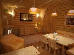 Дизайн бани с комнатой отдыха - 1