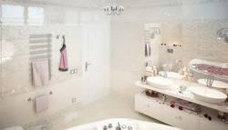 Дизайн большой ванной комнаты в таунхаусе