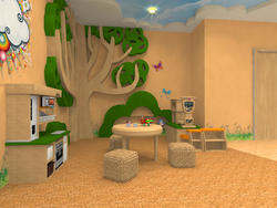 Дизайн детского сада - экологичность материалов