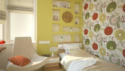 Дизайн спальни с детской кроваткой в одном стиле