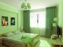 дизайн спальни своими руками в зеленом цвете