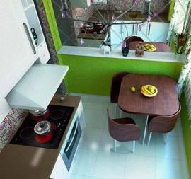 Дизайн кухни в хрущевке - 2