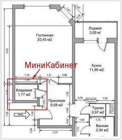перепланировка однокомнатной  квартиры ип 46с