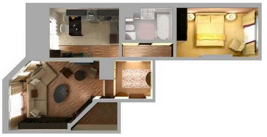 перепланировка квартир ип 46с
