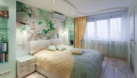 Фотообои с цветами в интерьере готовой квартиры