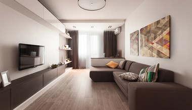 Дизайн 3-комнатной квартиры 75 кв.м. серии П-3М, м. Юго-Западная