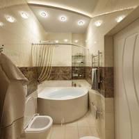 Дизайн ванной комнаты в таунхаусе