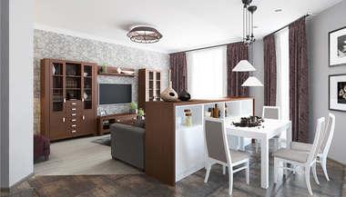 Проект трехкомнатной квартиры площадью 142 кв.м. в городе Троицк