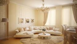 Интерьер гостиной в классическом стиле, цвета