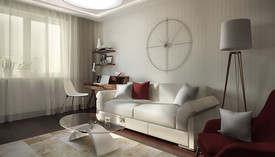 Белый диван в интерьере, Соколиная Гора
