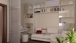 дизайн маленькой комнаты за перегородкой