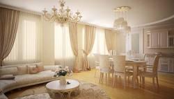 Дизайн штор для классической гостиной