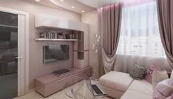 дизайн штор с подхватами в гостиной