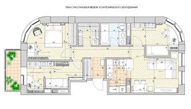 Дизайн и перепланировка квартиры 70 кв. м. | Портфолио м. Университет