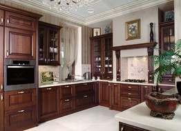 Дизайн кухни  своими руками в классическом стиле