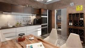 Стиль хай-тек в интерьере кухни квартиры КОПЭ-М-Парус