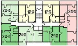 Планировки серии дома И-209А
