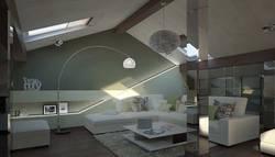 Мансардная комната-кабинет