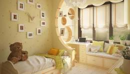 Перегородка из гипсокартона в интерьере детской комнаты