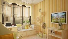 Оранжевый цвет в интерьере детской комнаты, Павлово
