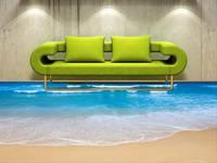 3D наливной пол в интерьере