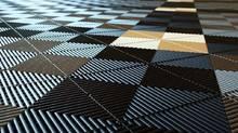Плитка из резины на полу кухни